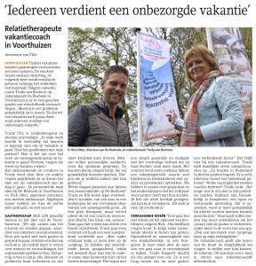 Barneveldse Krant mei 2015 - Vakantiecoach.eu